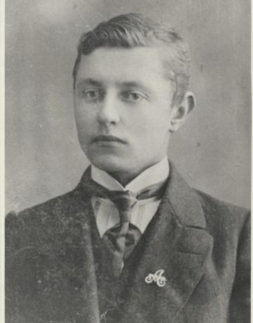 Ян Симонович (Семенович)  Адамсон  в день призыва в царскую армию. г. Либава, 1913 г
